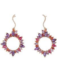 Sharon Khazzam - Purple Mixed-gemstone Drop Earrings-colorless - Lyst