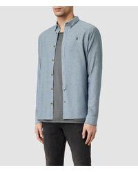 AllSaints | Blue Hermosa Shirt for Men | Lyst