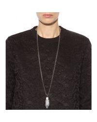 Givenchy - Metallic Rock Crystal-embellished Necklace - Lyst
