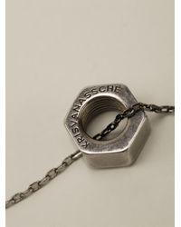 Kris Van Assche | Metallic Bolt Necklace for Men | Lyst