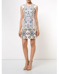 Peter Pilotto | Blue Digital Print Dress | Lyst