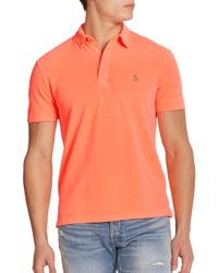 Polo Ralph Lauren | Orange Featherweight Cotton Polo Shirt for Men | Lyst