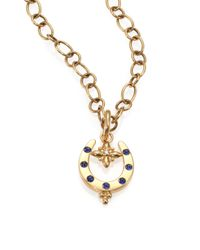 Temple St. Clair - Metallic Fortuna Sapphire, Diamond & 18k Yellow Gold Horseshoe Pendant - Lyst