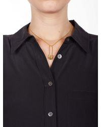 Equipment | Metallic Tom Binns Small Gold Studded Safety Pin Pendant Necklace | Lyst