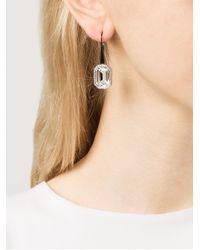 Rebecca - Multicolor Elizabeth Single Stone Earrings - Lyst