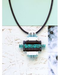 Lily Kamper - Turquoise & Blue Tower Block Pendant - Lyst