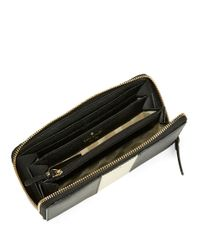 Kate Spade | Black Racing Stripe Lacey Leather Wallet | Lyst