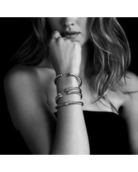 David Yurman | White Cable Classics Bracelet With Pearls & Diamonds | Lyst