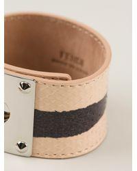 Fendi | Pink Chunky Striped Bracelet | Lyst