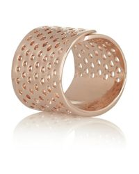 Jennifer Fisher - Pink Bandaid Rose Goldplated Ring - Lyst