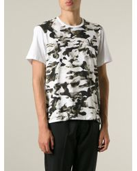 Neil Barrett | White Abstract Bust Print T-Shirt for Men | Lyst