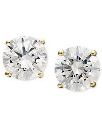 Arabella | Metallic Swarovski Zirconia Round Stud Earrings (1-3/4 Ct. T.w.) | Lyst
