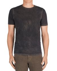 J Brand - Gray Fleming Crew Neck for Men - Lyst