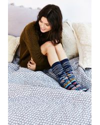 Urban Outfitters | Multicolor Winter Fair Isle Over-the-knee Sock | Lyst