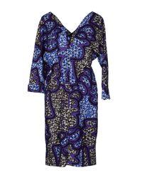 Marni | Purple Printed Cotton Shift Dress | Lyst