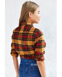 BDG - Yellow Katie Flannel Button-down Shirt - Lyst