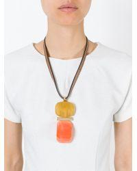 Marni   Orange Resin Pendant Necklace   Lyst