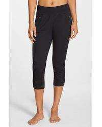 Zella | Black 'keep It Up' Capri Pants | Lyst