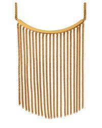 Chloé - Metallic Gold Delfine Fringed Chain Necklace - Lyst