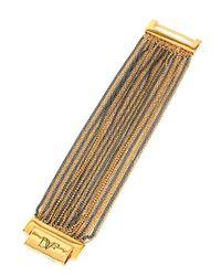 Diane von Furstenberg | Metallic Two-tone Mixed Chain Bracelet | Lyst
