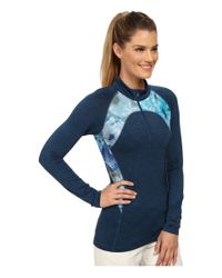 Lija | Blue Streamline 1/4 Zip Top | Lyst