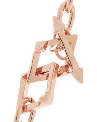 Jennifer Fisher - Pink Rose Goldplated Toggle Necklace - Lyst
