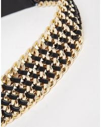 Pieces - Metallic Rapunzel Chain Waist Belt - Lyst
