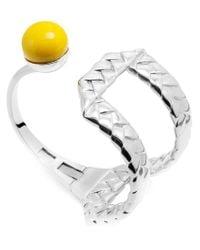 Eshvi - Metallic 'Braid' Cuff - Lyst