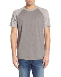 Converse - Gray Oversized Raglan Crewneck T-shirt for Men - Lyst