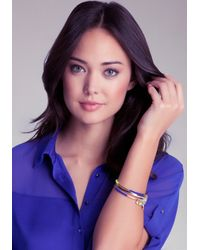 Bebe - Multicolor Neon Wrapped Charm Bangles - Lyst