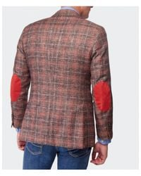 Jules B - Brown Check Tweed Jacket for Men - Lyst
