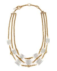 Stephen Dweck | Metallic Three Strand Rock Crystal Necklace | Lyst