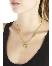 Marc By Marc Jacobs | Metallic Gold Tone Charm Necklace | Lyst