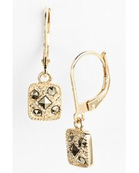 Judith Jack | Metallic Square Drop Earrings | Lyst