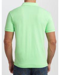 GANT - Green Pique Cotton Polo Shirt for Men - Lyst
