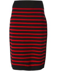 Marc By Marc Jacobs - Red Striped Knit Pencil Skirt - Lyst