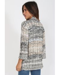 Goddis - Gray Jemma Cardigan In Stoney Brook - Lyst