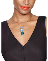 kate spade new york - Blue Madison Ave. Collection Swan Dive Pendant - Lyst