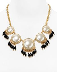 Aqua | Black Carly Cabachon Necklace, 20"