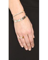Vita Fede - Metallic Geo Tech Crystal Bracelet - Lyst