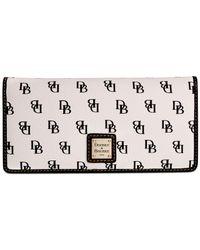 Dooney & Bourke - White Gretta Slim Wallet - Lyst