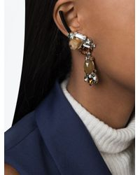 Marni | Metallic Strass Clip-on Earrings | Lyst