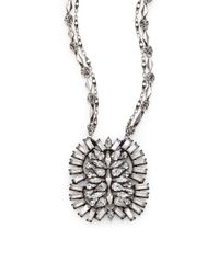 DANNIJO | Metallic Lila Crystal Pendant Necklace | Lyst
