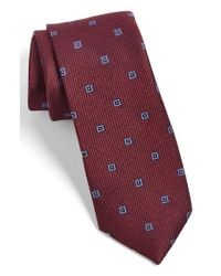 Calibrate - Purple Woven Silk Tie for Men - Lyst