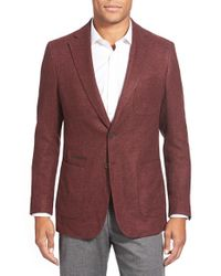 Peter Millar | Purple Classic Fit Textured Two-button Blazer for Men | Lyst