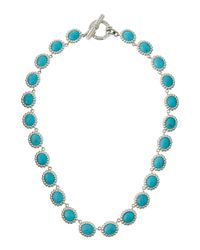 Slane | Blue Nuage S-Hook Station Necklace W/ Turquoise | Lyst