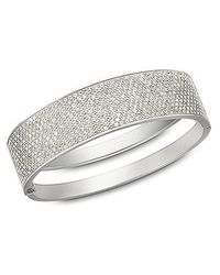 Swarovski | Metallic Stone Bangle | Lyst