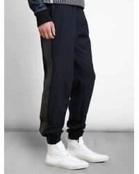 James Long - Blue Patterned Denim Sweatpants for Men - Lyst