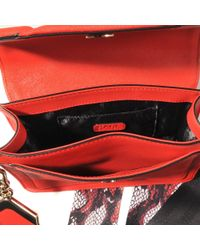 Karl Lagerfeld - Red Small Rock Strap Saffiano Bag - Lyst