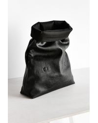 Silence + Noise - Black Oversized Paperbag Clutch Bag - Lyst